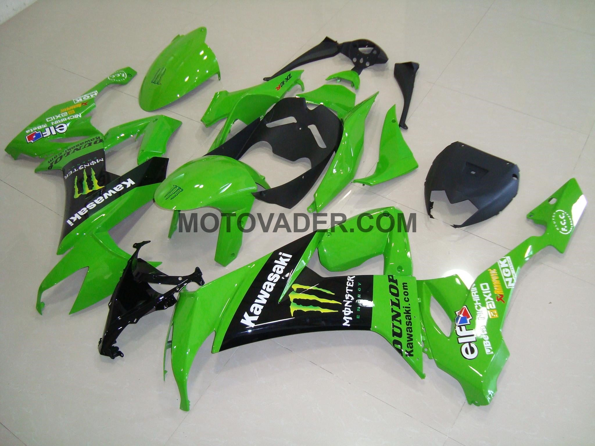 Kawasaki ZX-10R 2008-2010 Green Monster 2 Fairing