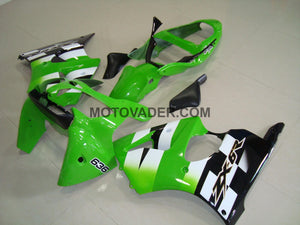 Kawasaki ZX-6R 2000-2002 Green & Black 4 Fairing