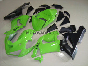 Kawasaki ZX-6R 2005-2006 Lime Green Fairing