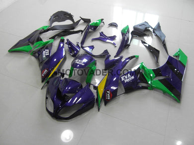 Kawasaki ZX-6R 2009-2012 Purple&Green Eva Fairing