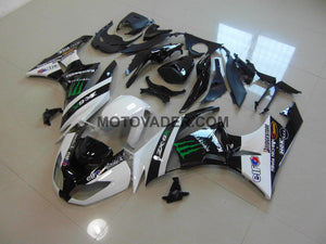 Kawasaki ZX-6R 2009-2012 White Monster 2 Fairing