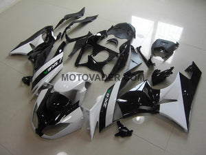 Kawasaki ZX-6R 2009-2012 White & Black  Fairing