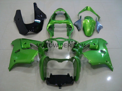 Kawasaki ZX-9R 2000-2001 Green & Black Fairing