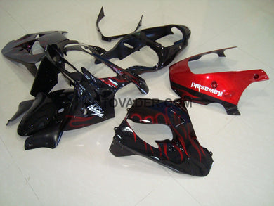 Kawasaki ZX-9R 2000-2001 Red Flame Fairing