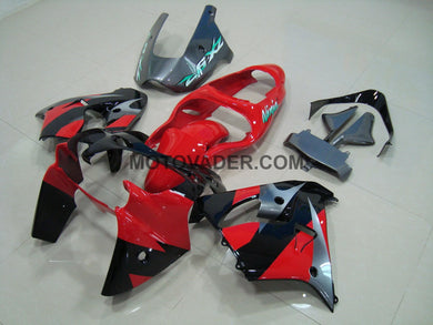 Kawasaki ZX-9R 2000-2001 Red & Black & Grey 2 Fairing