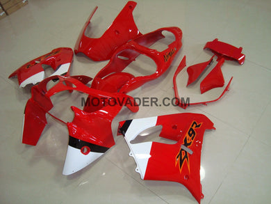 Kawasaki ZX-9R 2000-2001 Red & White Fairing
