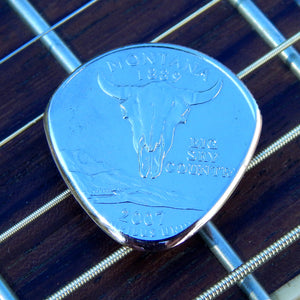World Winds:Coin Guitar Pick - You Pick The State - Highly Polished