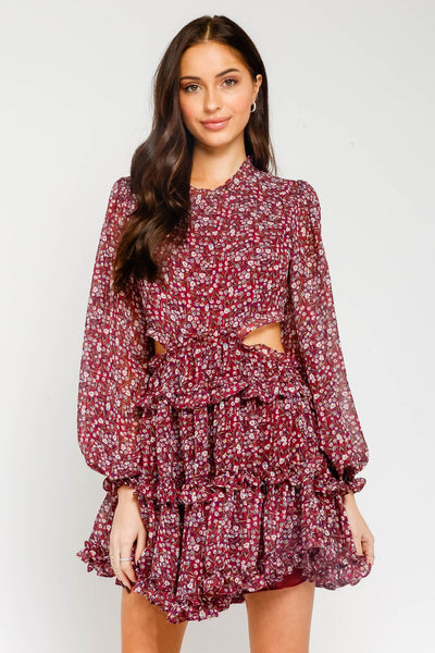 Flora Mini Ruffle Dress