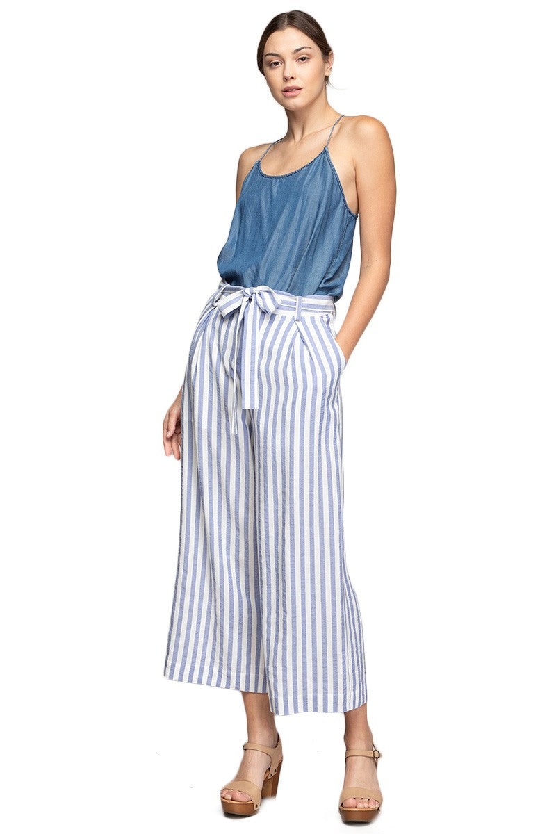 Striped Paper bag Pants