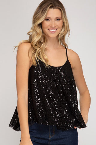 Mirage sequin Cami Top