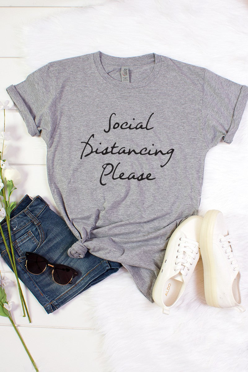 Social Distancing Please T shirt