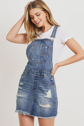 No One Can Deny  Denim Overall Skirt