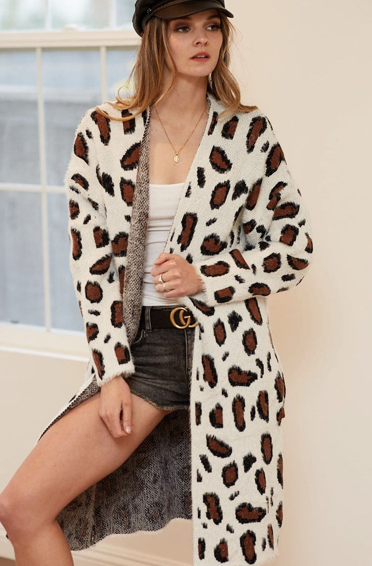 Leopard Print Cardigan - Clearance Sale LIMITED QUANTITIES