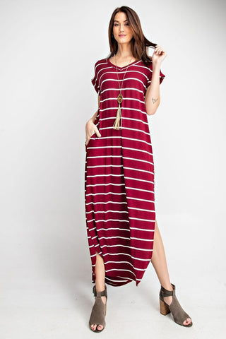 Mood and Melody  Stripe Maxi Dress Preorder Limited Quantities