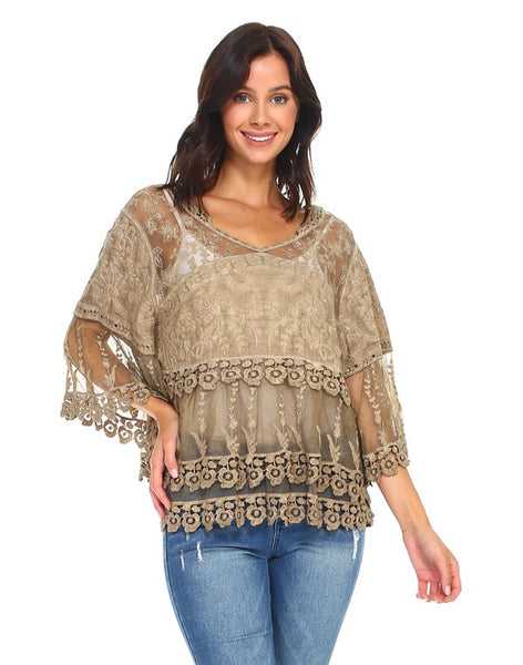 Serendipity Knocking Crochet and Lace Top