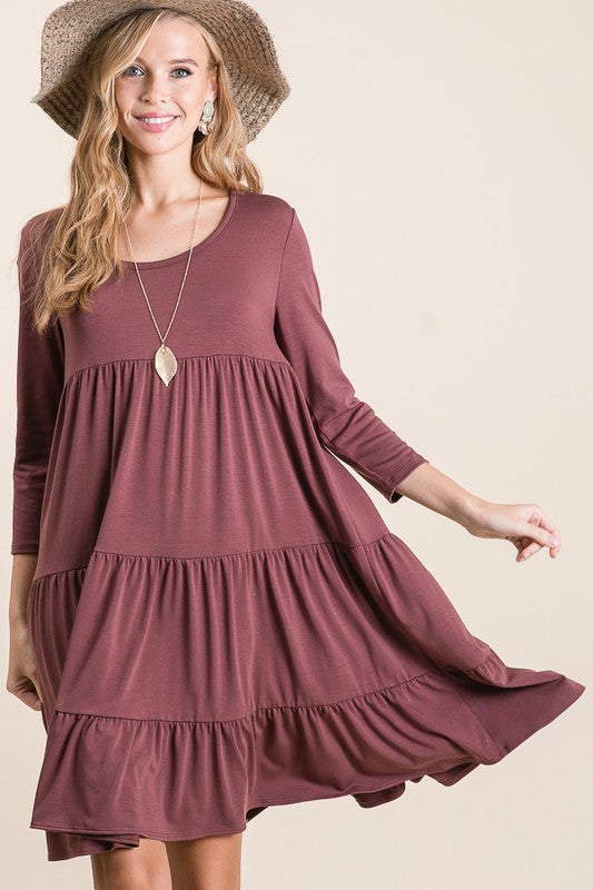 Stay With You Always Tiered Dress
