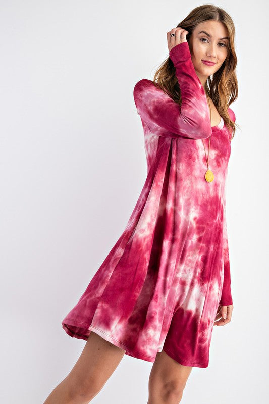 You've Got Plans Tie Dye Dress