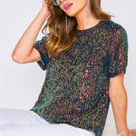 Mirage Gold Sequin Top