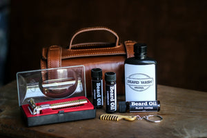 Men's Leather Toiletry Bag and Accessories
