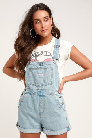 Jessi  Denim Overall Shorts