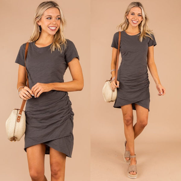 Uncomplicated Appeal T-Shirt Ruched Dress