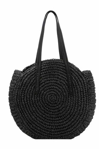 Large Circle Natural Round Bag Tote