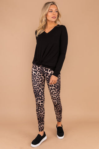 Leopard Goals Brown Leopard Leggings