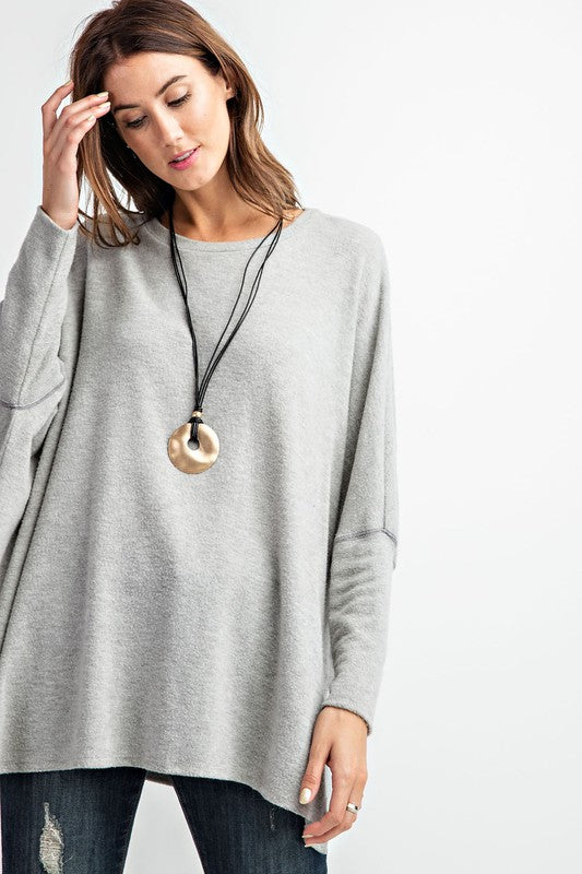 Slouchy Dolman Long Sleeve Sweater Tunic