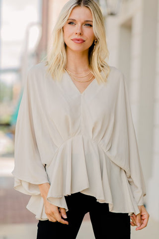 Angel Vibes Kimono Sleeve Blouse - Made in US