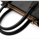 Trapeze Satchel Leather Crossbody Bag
