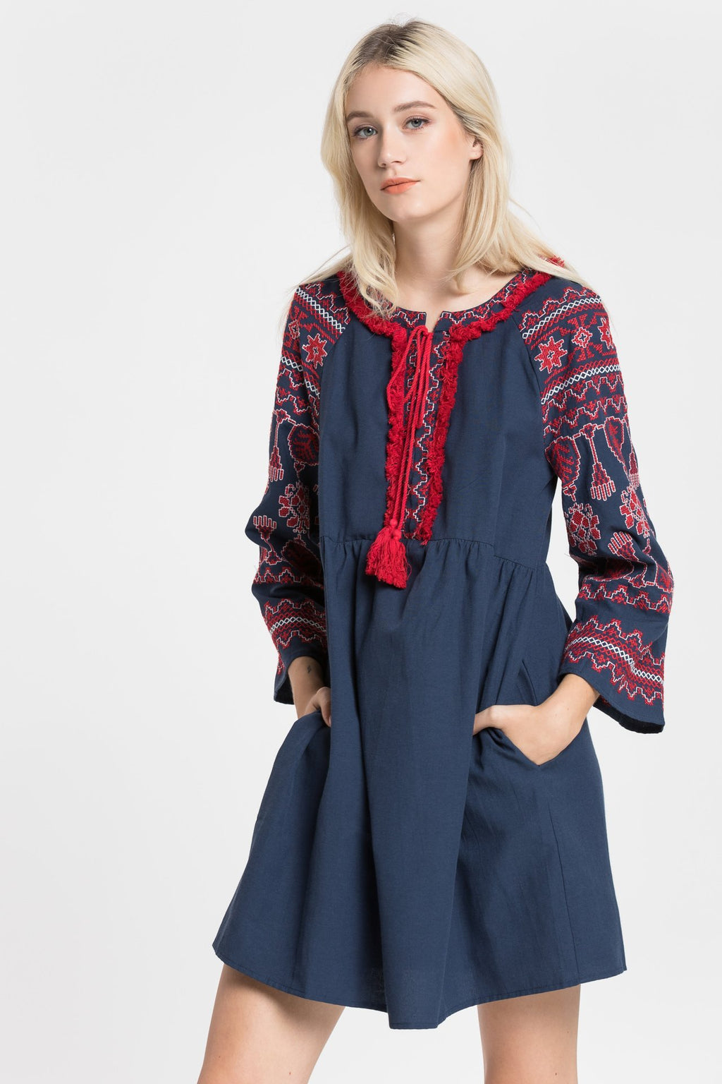 EVERYTHING YOU DO EMBROIDERED DRESS/TOP - RishWish
