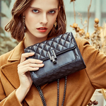 Kira Crossbody Quilted Leather Chain Bag