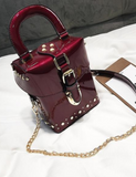 Perfect Lacquer Box-Messenger Bag with Chain