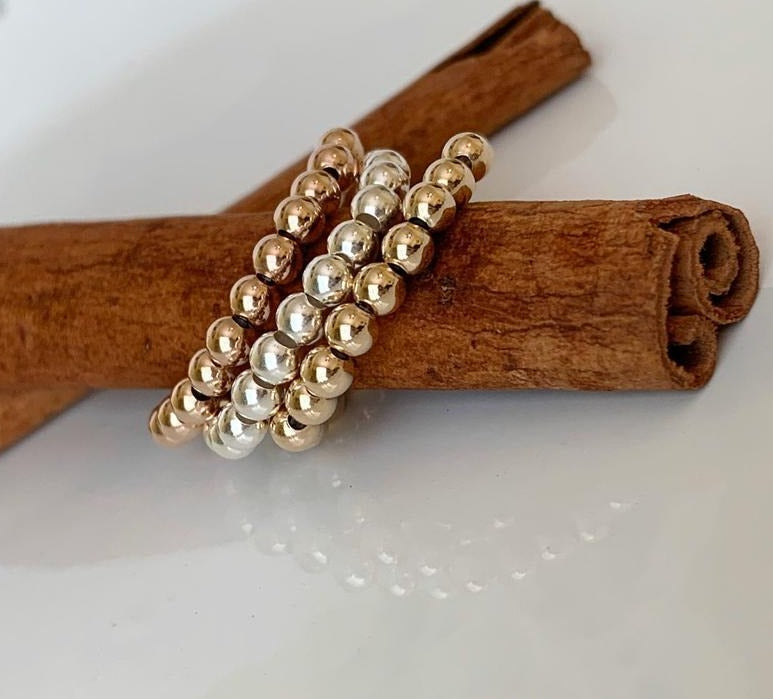 18K Gold Filled Beaded Ring