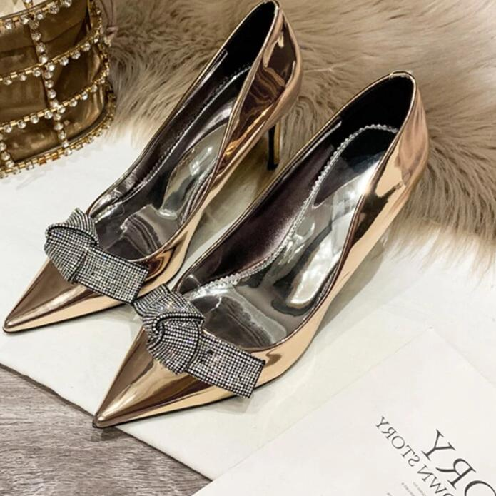 Sophia Butterfly-knot Crystal Embellished Wedding Pumps
