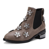 Shoemakers Embellished Short Suede Boot