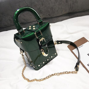 Perfect Lacquer Box-Messenger Bag with Chain - RishWish