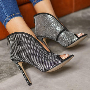 Studded Detail ShowStopper Heels - RishWish