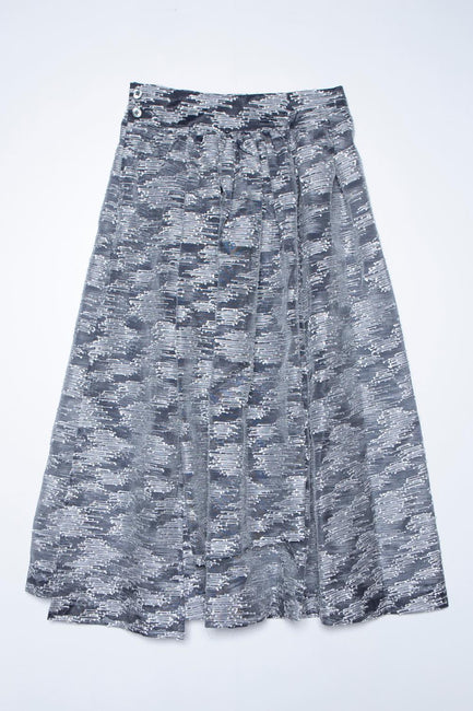 See Through Jacquard Wrap Skirt
