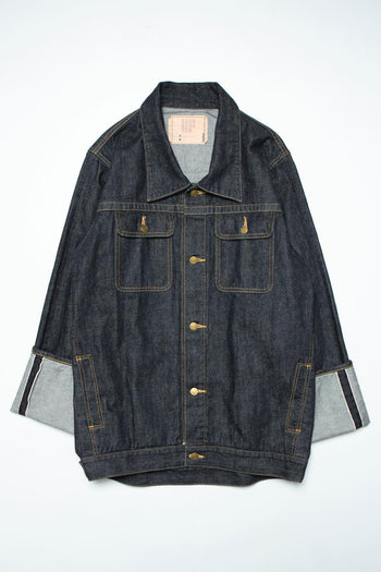 RED SELVAGE DENIM JACKET