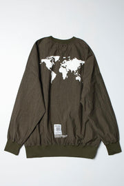 WORLD MAP PRINT PULLOVER