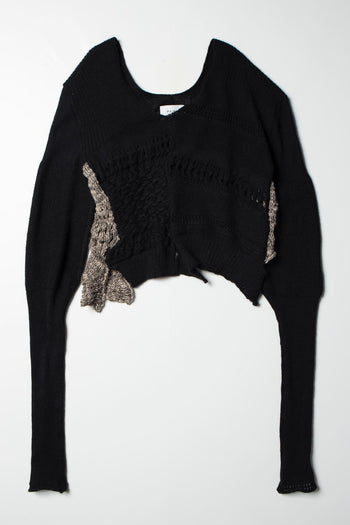 【先行予約】Mix Knit Tops black