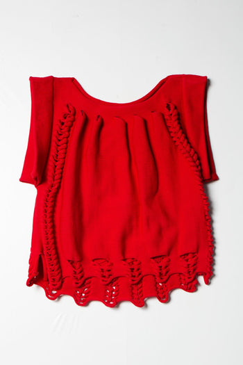 【先行予約】2way Knit Tops red