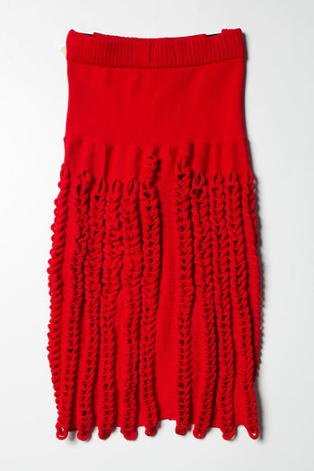 【先行予約】Knit Skirt red