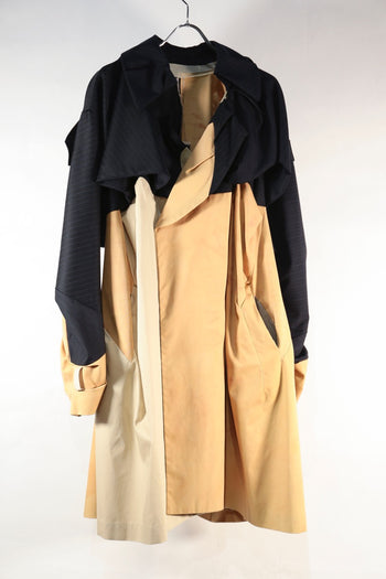 TWO TONE TRENCH COAT 1点物