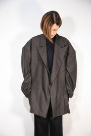 STRIPE WIDE JACKET GRA 1点物