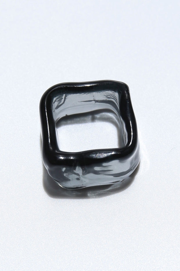 Ripple ring square black