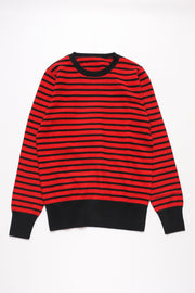 BORDER cashmere crewneck knit