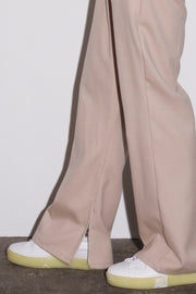 SIDE ZIP FLARE TROUSERS