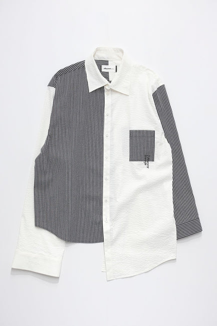 Asymmetry Stripe Shirt
